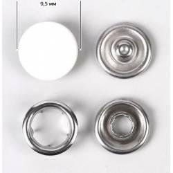 Кнопка трикотажная (закрытая) 9,5 мм арт.ТR-Z цв.белый 1000 шт