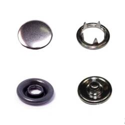 Кнопка трикотажная (закрытая) 9,5 мм арт.ТR-Z цв.темный никель 1000 шт