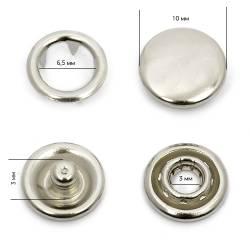 Кнопка трикотажная (закрытая) 10 мм арт.ТR-Z цв.никель 2000 шт