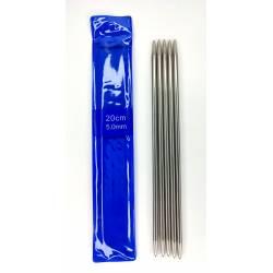 Спицы для вязания чулочные металл арт.SV-PD Ø5,0 мм/20см (5шт)