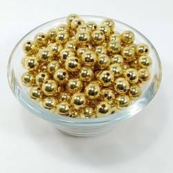 Бусины 500гр BS-ABC Золото 12мм 500шт
