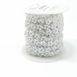 Тесьма декоративная 9м 144см АА-133 Белая