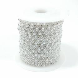 Тесьма декоративная 9м 144см АА-138 Белая