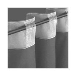 Шторная лента арт.YXCT-1503 прозрачная (на трубу - поперечные петли) шрина10 см/50 м